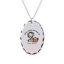 2nd Birthday Monkey Personalized Necklace