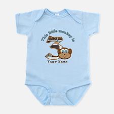 3rd Monkey Birthday Personalized Infant Bodysuit
