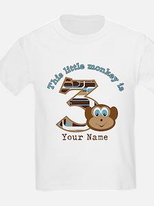 3rd Monkey Birthday Personalized T-Shirt