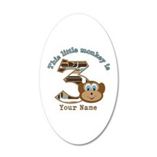 3rd Monkey Birthday Personalized Wall Decal
