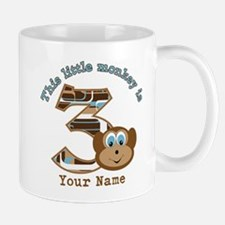 3rd Monkey Birthday Personalized Mug