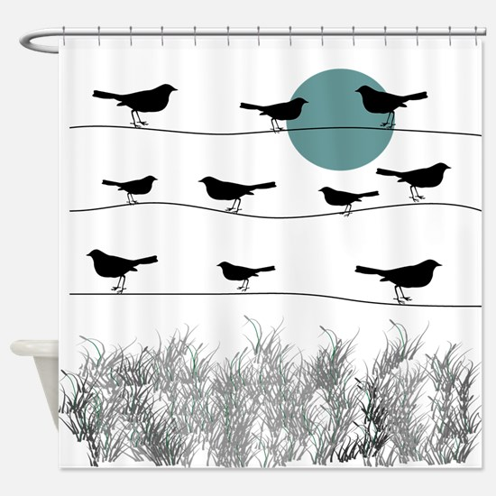 Birds On A Wire 3 Shower Curtain