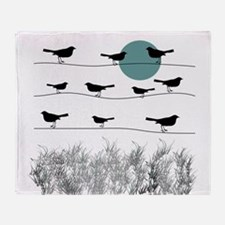 Birds On A Wire 3 Throw Blanket