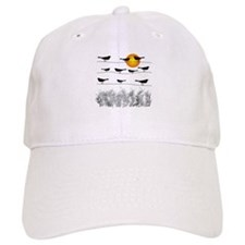 birds on a wire Baseball Baseball Cap
