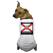 Florida Flag and Slogan Dog T-Shirt