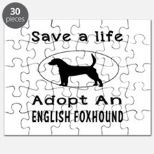 Adopt An English Foxhound Dog Puzzle