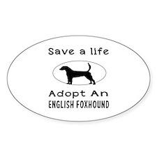 Adopt An English Foxhound Dog Decal