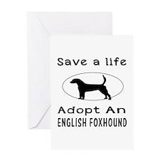 Adopt An English Foxhound Dog Greeting Card