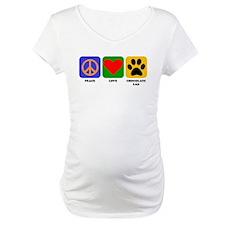 Peace Love Chocolate Lab Shirt