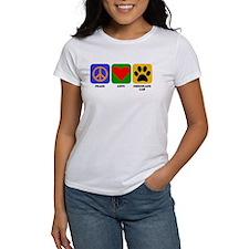 Peace Love Chocolate Lab T-Shirt