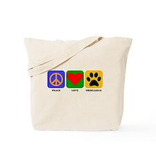 Peace Love Chihuahua Tote Bag