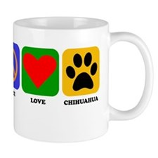 Peace Love Chihuahua Mugs