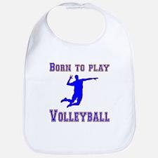 Born To Play Volleyball Bib
