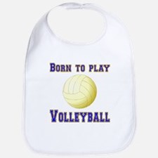 Born To Play Volleyball Bib
