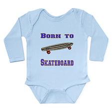 Born To Skateboard Body Suit