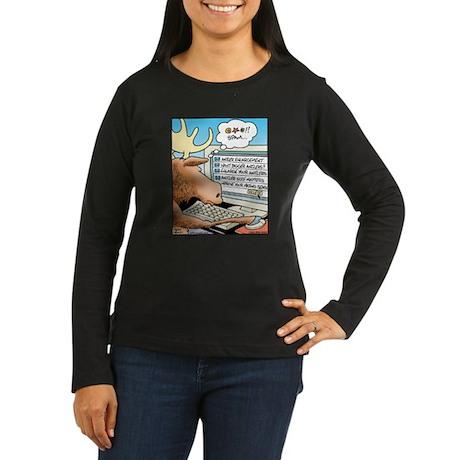 Moose S*X Spam Women's Long Sleeve Dark T-Shirt