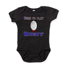 Born To Play Rugby Baby Bodysuit
