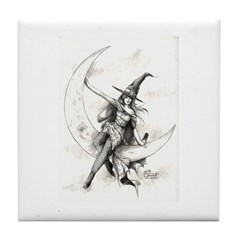 Moon Witch Tile Coaster