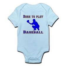 Born To Play Baseball Body Suit