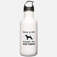 Adopt An Irish Terrier Dog Water Bottle