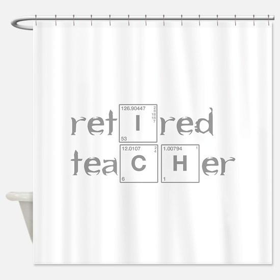 retired-teacher-break-gray Shower Curtain