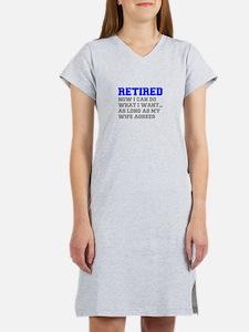 retired-now-I-can-do-FRESH-BLUE-GRAY Women's Night