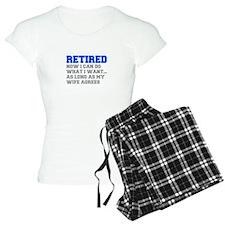 retired-now-I-can-do-FRESH-BLUE-GRAY Pajamas