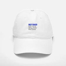 retired-now-I-can-do-FRESH-BLUE-GRAY Baseball Baseball Baseball Cap