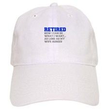retired-now-I-can-do-FRESH-BLUE-GRAY Baseball Baseball Cap