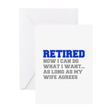 retired-now-I-can-do-FRESH-BLUE-GRAY Greeting Card