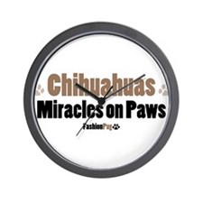 """Chihuahuas, Miracles on Paws"" Wall Clock"