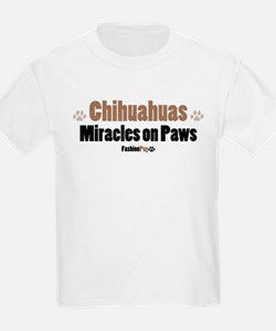 """""""Chihuahuas, Miracles on Paws"""" Kids T-Shirt"""
