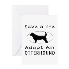 Adopt An Otterhound Dog Greeting Card