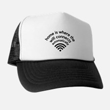 The Wifi Connects Automatically At Home Trucker Hat