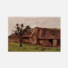 Monet - Farm Near Honfleur Rectangle Magnet