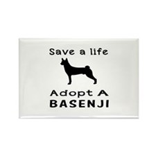 Adopt A Basenji Dog Rectangle Magnet (10 pack)