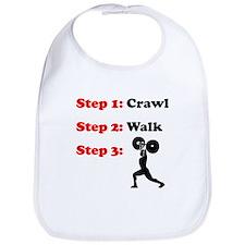Crawl Walk Weightlifting Bib