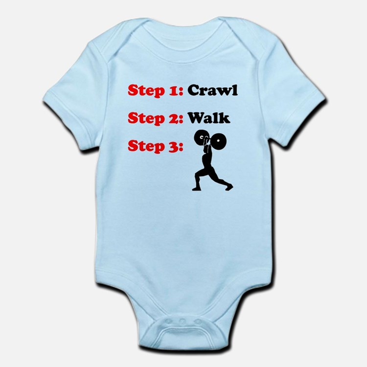 Crawl Walk Weightlifting Body Suit