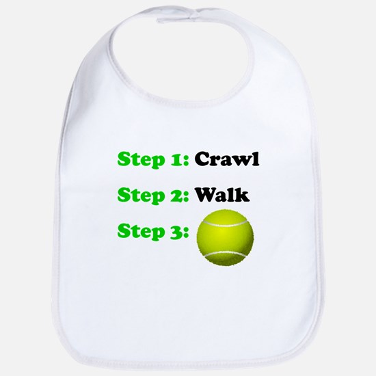 Crawl Walk Tennis Bib