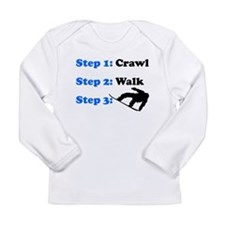 Crawl Walk Snowboard Long Sleeve T-Shirt