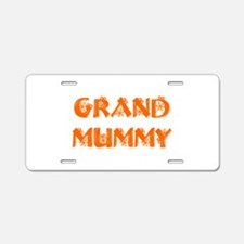 grand-mummy-hs-orange Aluminum License Plate