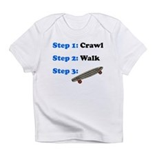 Crawl Walk Skateboarding Infant T-Shirt