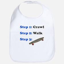 Crawl Walk Skateboarding Bib