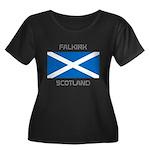 Falkirk Scotland Women's Plus Size Scoop Neck Dark