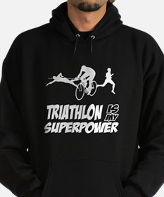 Super power Triathlon designs Hoodie