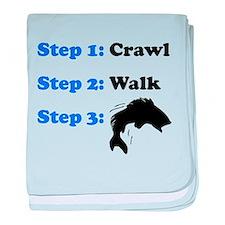 Crawl Walk Fishing baby blanket