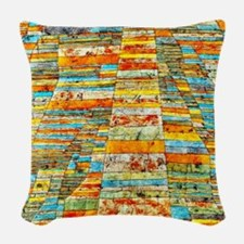 Paul Klee - Highway and Byways Woven Throw Pillow