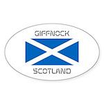 Giffnock Scotland Sticker (Oval 10 pk)
