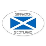 Giffnock Scotland Sticker (Oval 50 pk)
