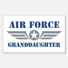 Air Force Granddaughter Sticker (Rectangle)